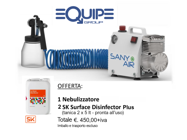 OFFERTA: SANY AIR + SK SURFACE DISINFECTOR PLUS 2 x 5 LT.